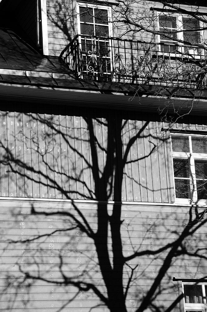 Wooden balcony.