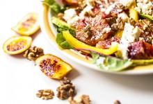 Salade orange sanguine, feta et noix
