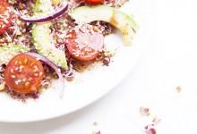 Salade de pousses de radis